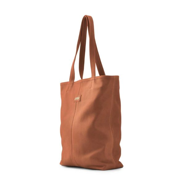 Leren shopper dames oranje