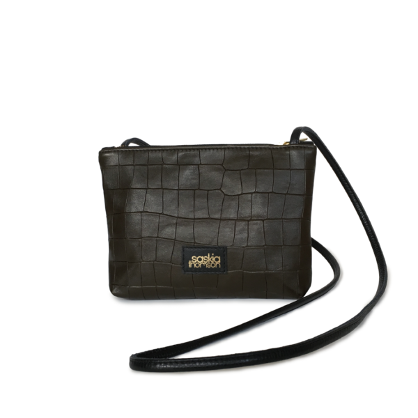 Crossbody bag Groene Croco