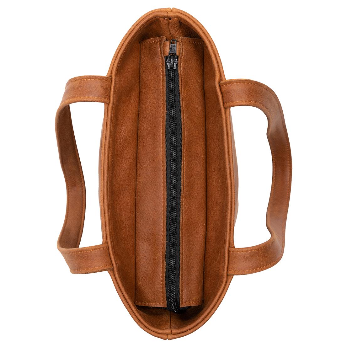 eb5f9de0119 Shopper Robin Cognac – Saskia Thomson Handmade Design