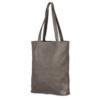 grijs leren shopper