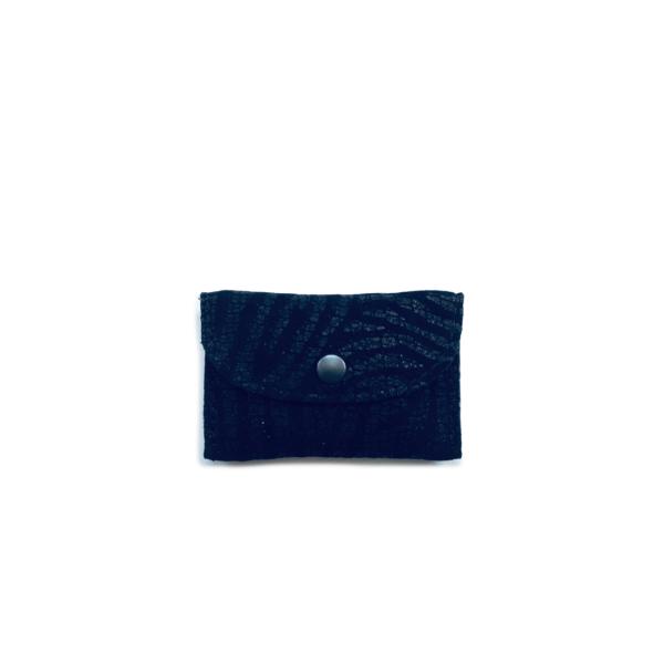 leren mini etui voor oortjes zwarte zebraprint
